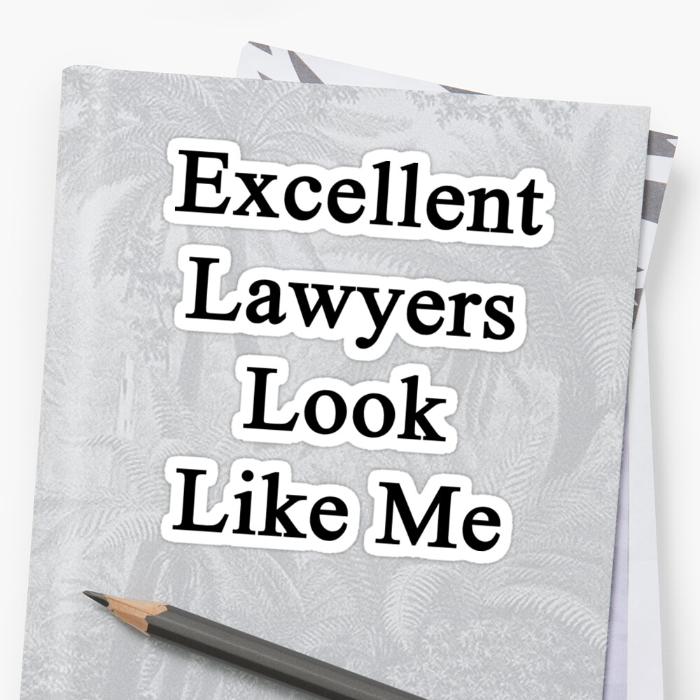 Excellent Lawyers Look Like Me  by supernova23