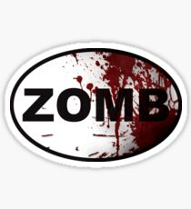 OutRunning Zombies Sticker