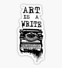 Art is a Write Sticker