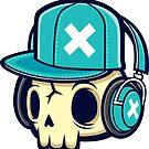Skull and Headphones by cronobreaker