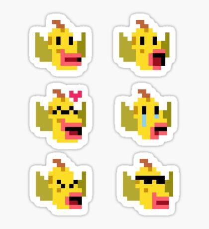 Mini Pixel Weepinbell Faces - Set of 6 Sticker