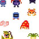 Mini Pixel Kanto Grass Types - Set of 9 by pixelatedcowboy