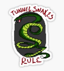 Tunnel Snakes Rule Sticker