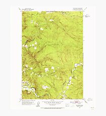 USGS Topo Map Washington State WA Mt Brynion 242750 1953 24000 Photographic Print