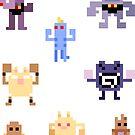 Mini Pixel Kanto Fighting Types - Set of 8 by pixelatedcowboy