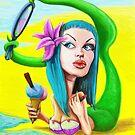 Mermaid pin up by BurgerSauce