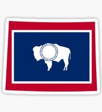 Wyoming | Flag State | SteezeFactory.com Sticker