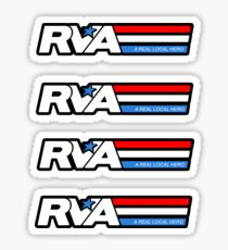 RVA - A Real Local Hero! STICKERS USA Sticker