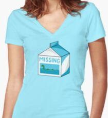 Missing Women's Fitted V-Neck T-Shirt