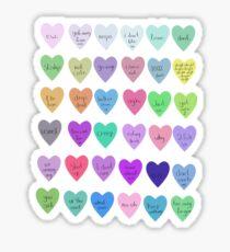 Mini sassy hearts – master collection Sticker