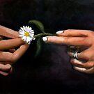 Hands and Daisy by Kostas Koutsoukanidis