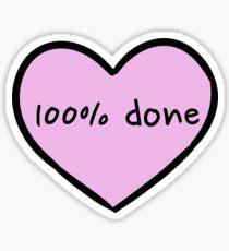 Sassy Heart–100% done– Mauve Sticker