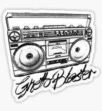 Ghetto Blaster 80's Boombox Sticker