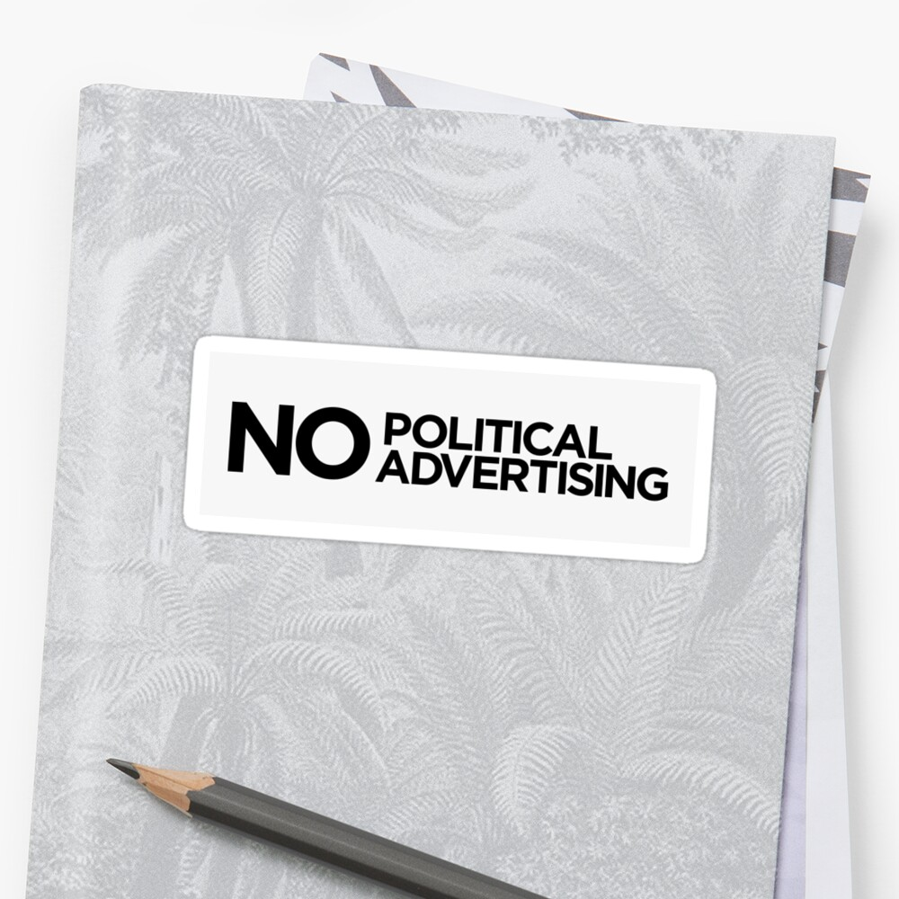 No Political Advertising Letterbox Sticker by RikkiB