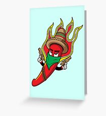 Mr. Spicy HOT Greeting Card