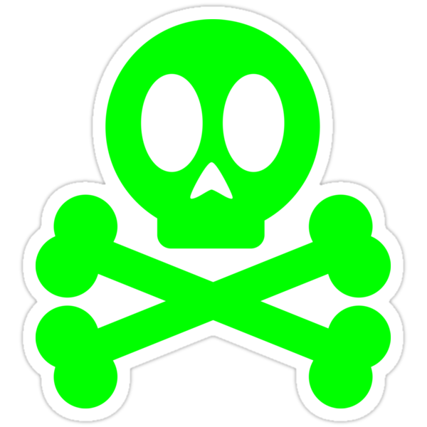 Poison Skull and Cross Bones ( Green ) by Mehdals