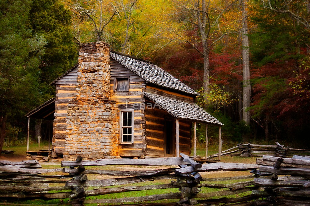 John Oliver Cabin Cades Cove by LenaAuxier