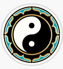 Yin Yang Lotus Sticker