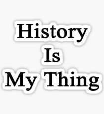 History Is My Thing  Sticker
