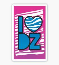 I Heart DZ Sticker