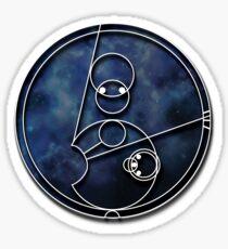 Allons-y Circular Gallifreyan Sticker