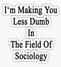I'm Making You Less Dumb In The Field Of Sociology Sticker
