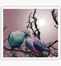 Sweet Turtle Doves Sticker