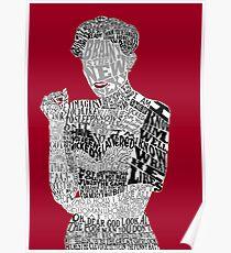 Irene Adler Typography Art Poster