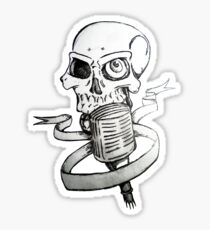 Music Skull Tattoo Sticker