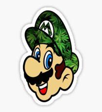 Weed Mario Sticker