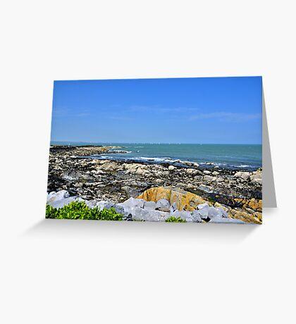 A Blue Skerries Sky Greeting Card