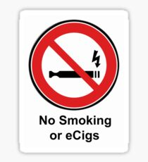 No Smoking or eCigs sticker Sticker