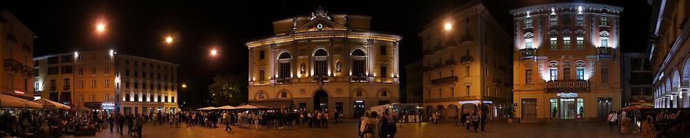 Lugano Piazza Municipio, Ticino, Switzerland by bartfrancois