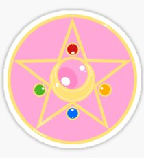 moon crystal power Sticker