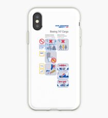 Air France Boeing 747 Cargo safety card iPhone Case