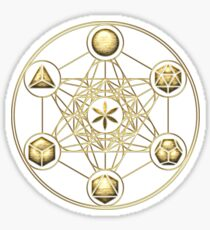 Platonic Solids, Metatrons Cube, Flower of Life Sticker