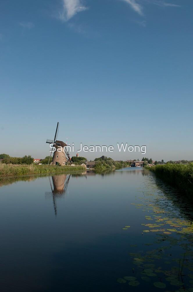 Windmill in Kinderdijk by Sami Jeanne Wong