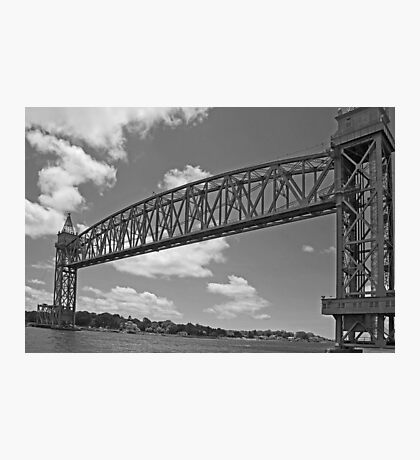 Cape Cod Railroad Bridge B&W  Photographic Print