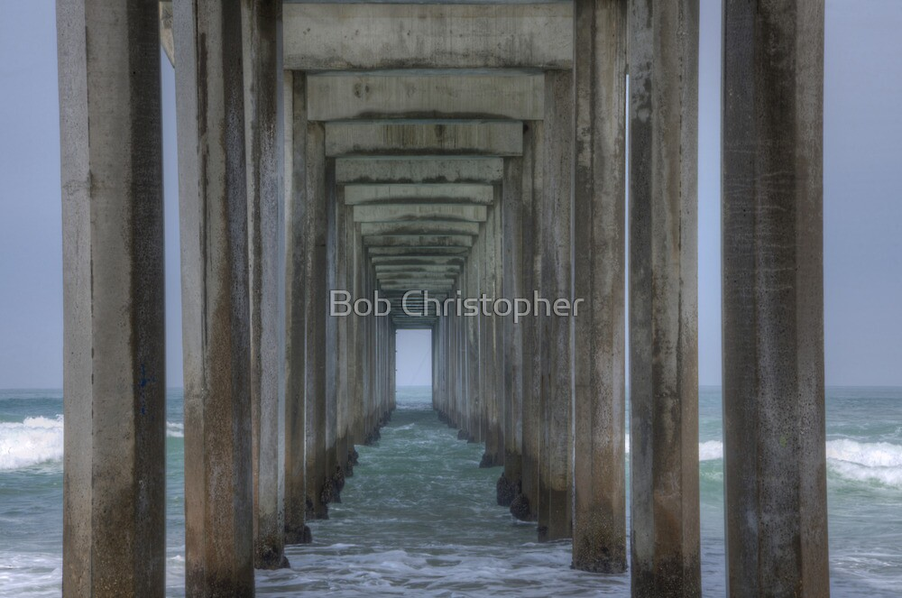 Scripps Pier Tranquility Below by Bob Christopher
