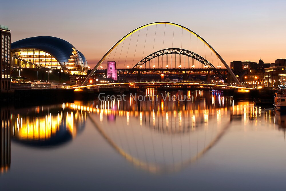 River Tyne Lit Up by Great North Views