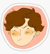 sherlock head Sticker