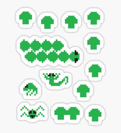 Centipede Stickers Sticker