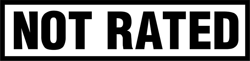 "not rated sticker | fresh thread shop"" stickersfreshthreadshop"