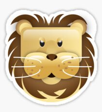 Funny head of a lion Sticker