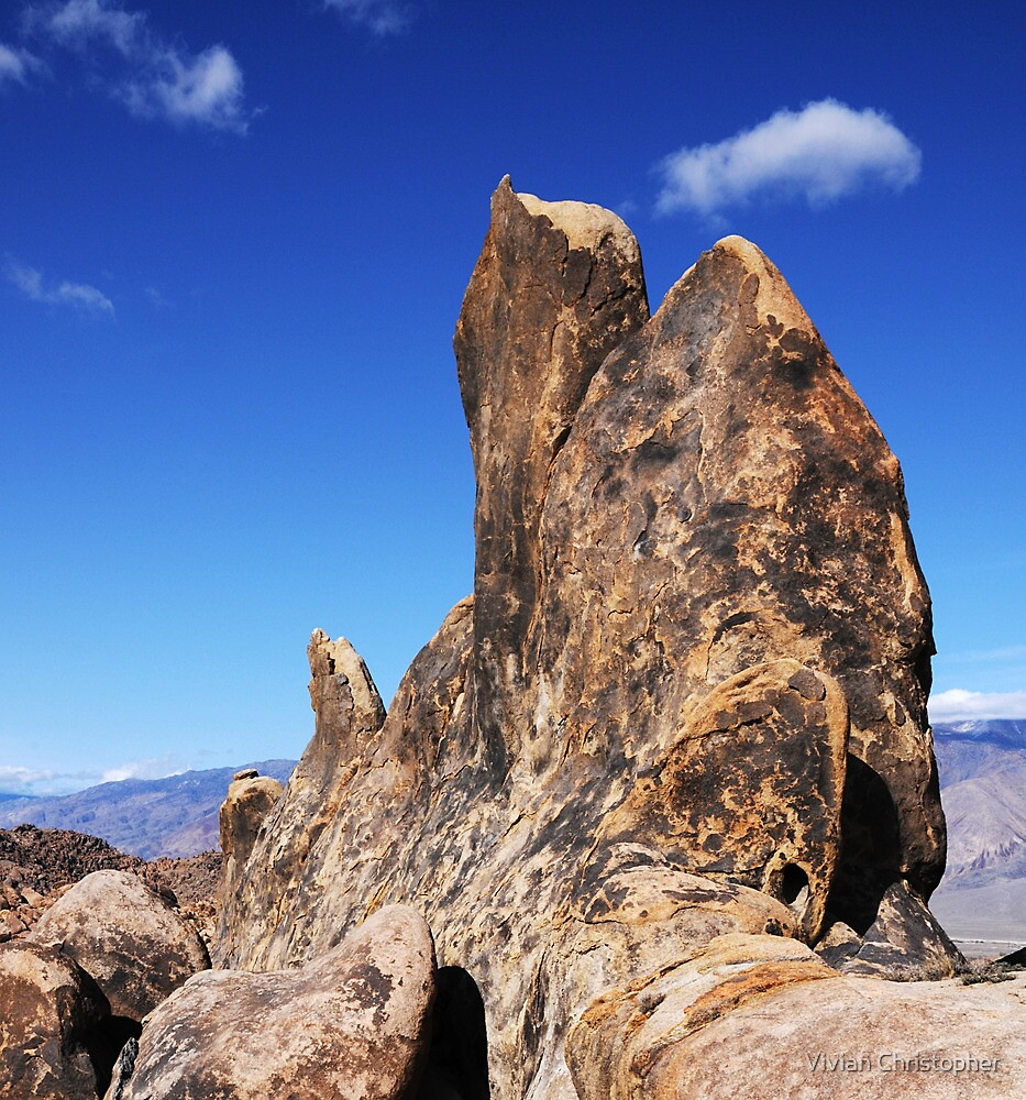 Alabama Hills Rock Formation by Vivian Christopher