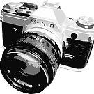 Black and White 35mm SLR Design by strayfoto
