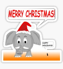 Merry Christmas and Happy Holidays Sticker