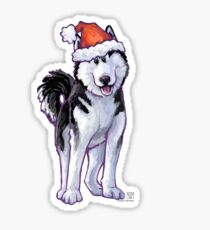 Husky Christmas Sticker