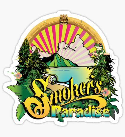 Smokers Paradise Sticker