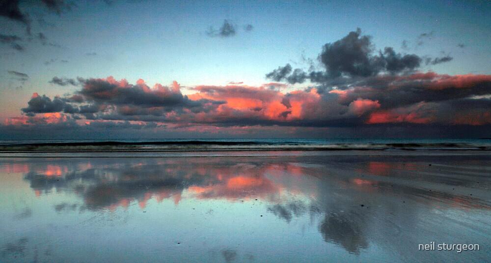 Alnmouth Bay Sunset  by neil sturgeon